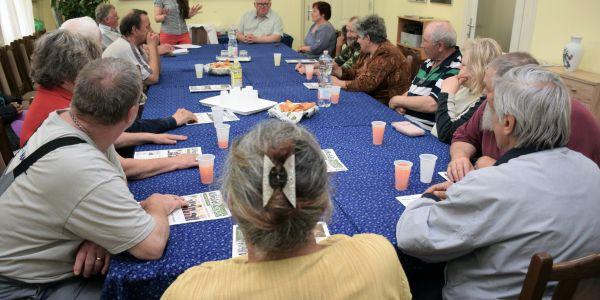 Előadás és ebéd osztás a Wojtyla Házban